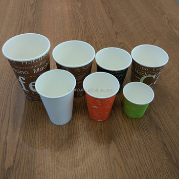 Disposable Paper Coffee Cup Single Wall
