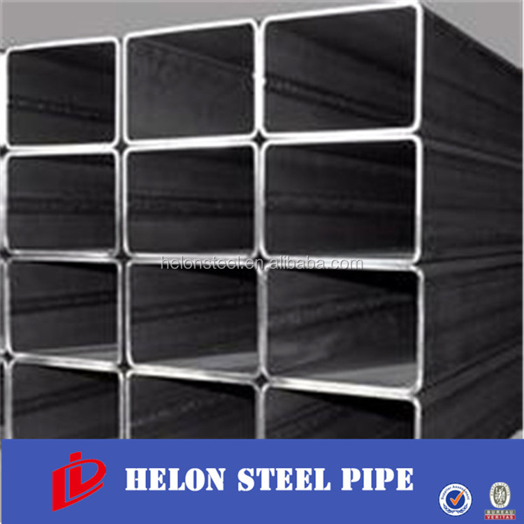 Black painting or oil Q195 mild steel square and rectangular pipe