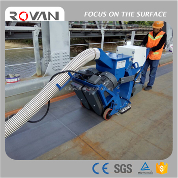 Movable shot blasting machine for concrete|steel|bridge surface cleaning