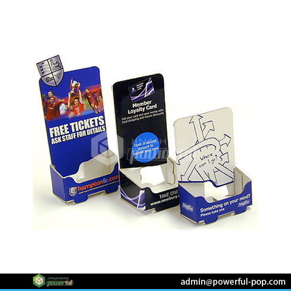 PDQ business card holder cardboard display for booklet/brochure/pamphlet holder