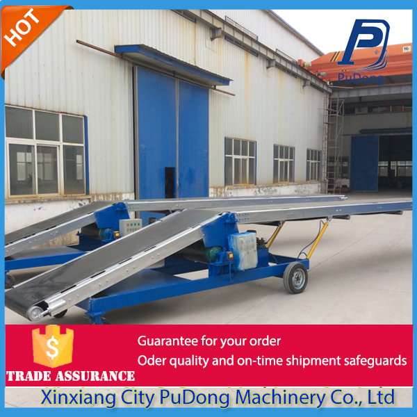 China adjusted angle conveyor belt loader