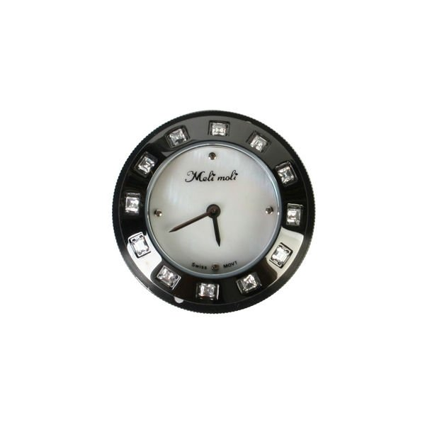 Stainless Steel Watch Case White Shell Dial w/ Crystal Index