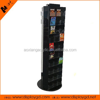 Wholesale Customizable Rotatable 3 Sides Retail Store Display MDF Car Accessories Display Rack