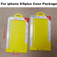 High Quality 300pcs/lot Mobile Phone Ultrathin TPU PC Case Package PVC Retail Packaging Box for iphone 6 6 plus Plastic Packing