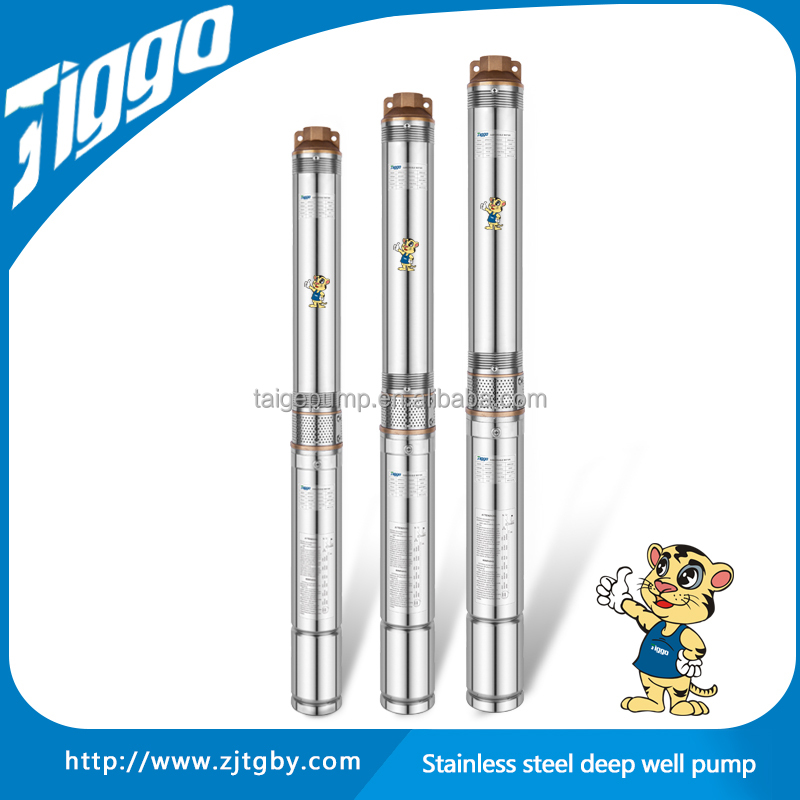 6Inch High Pressure and Good Quality Low Volume Stainless Steel Deep Well Submersible Water Pump