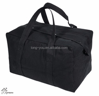 Black Parachute Cargo Bag Wholesale Cotton Tote Bag