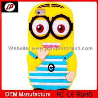 silicone phone case for iphone4/4S silicone case for iphone4 minions case for iphone4
