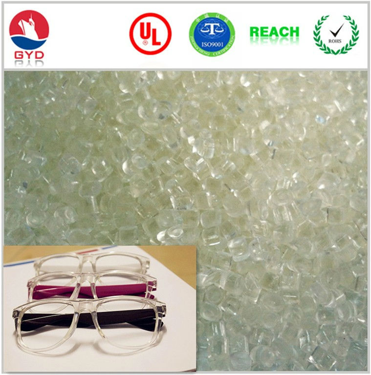 Optical frames TR90 material Transparent Nylon 12 granules / Glasses frame maker material Softened reinforced PA12 raw material