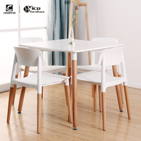 cheap wooden plastic white modern small dinner room furniture 4 and 6 chairs seater dinning table set