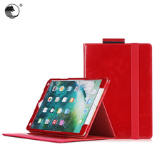 Customize genuine leather folio red tablet case for iPad Pro 10.5
