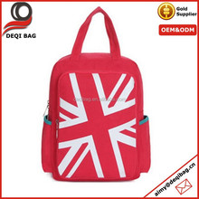 Red Girls Casual Computer Bag Students Schoolbag Handbag Canvas Backpack