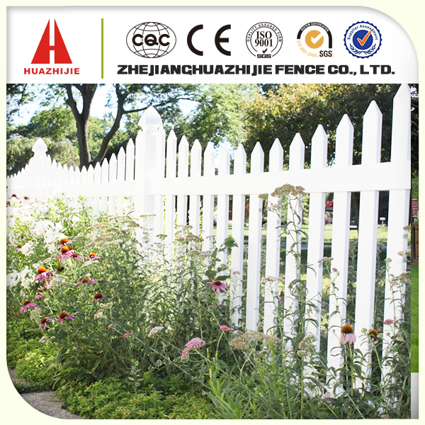 Pvc wooden garden fence with low price