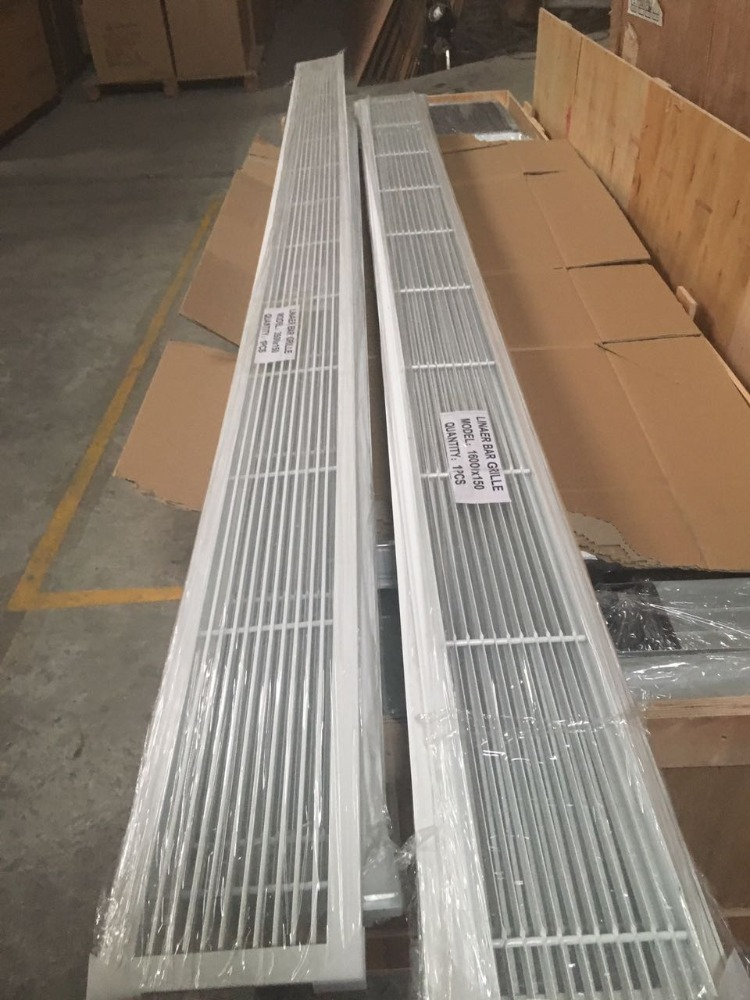 Air conditioner supply air vent diffuser aluminum linear slot grille linear bar grille