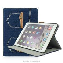 China Manufacture jeans PC tablets cases for ipad air 2 leather case
