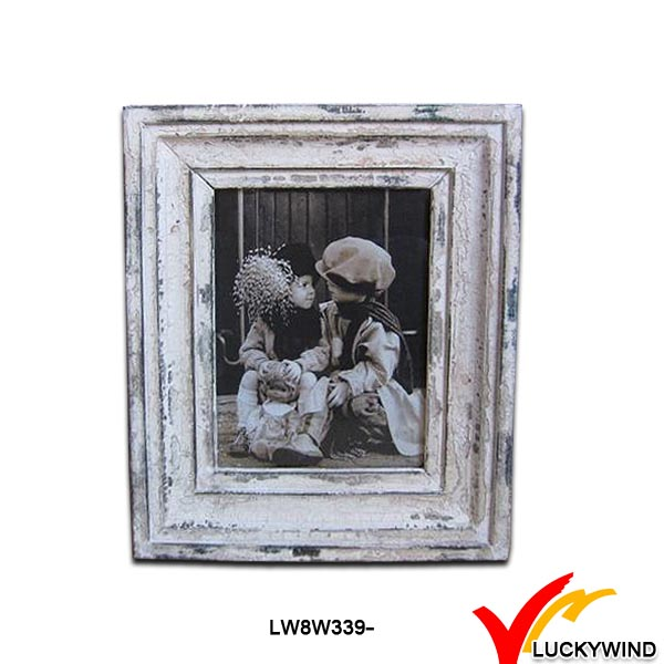 stand reclaimed wooden kids writing photo frame