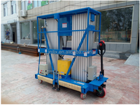 The auxiliary walking- type aluminum alloy lift/hydraulic mobile lifter