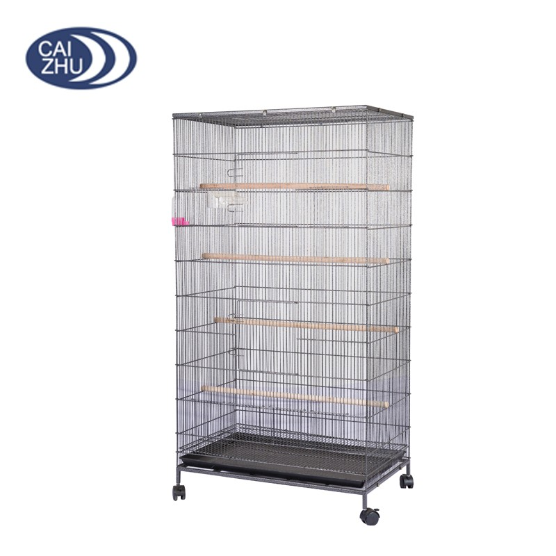 Black Powder Coating Best products wire iron large metal bird cage