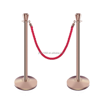 Restaurant Stanchion Rope Length 1.5m Dia Of Base 320mm Queue Rope Barrier portable barriers Sliding Door Barrier