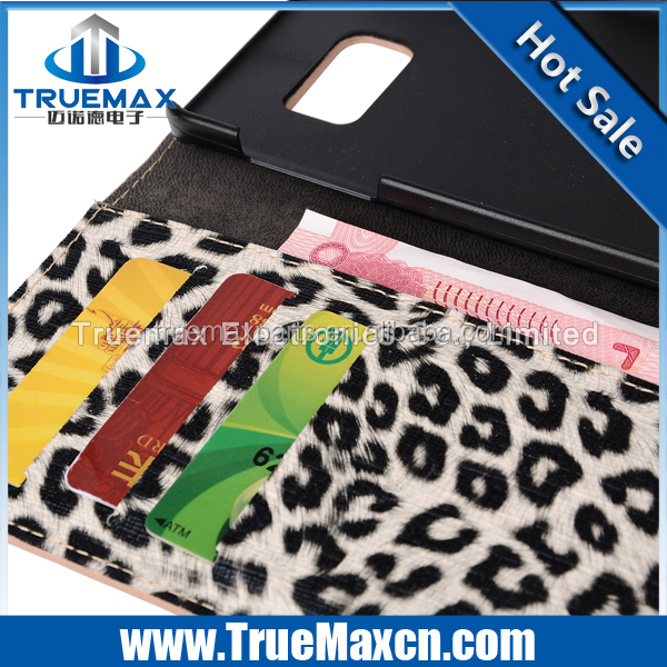 For Samsung S6 Edge Plus Leopard Print Pattern Leather Case