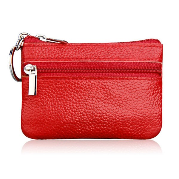 New Arrival genuine Leather Car Key Holder Women Multifunction Zipper Coin Purse Card Wallet Keys Hanging bag