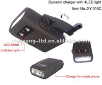 Best hand winding dynamo led flashlight with mobile charger/dynamo flashlight