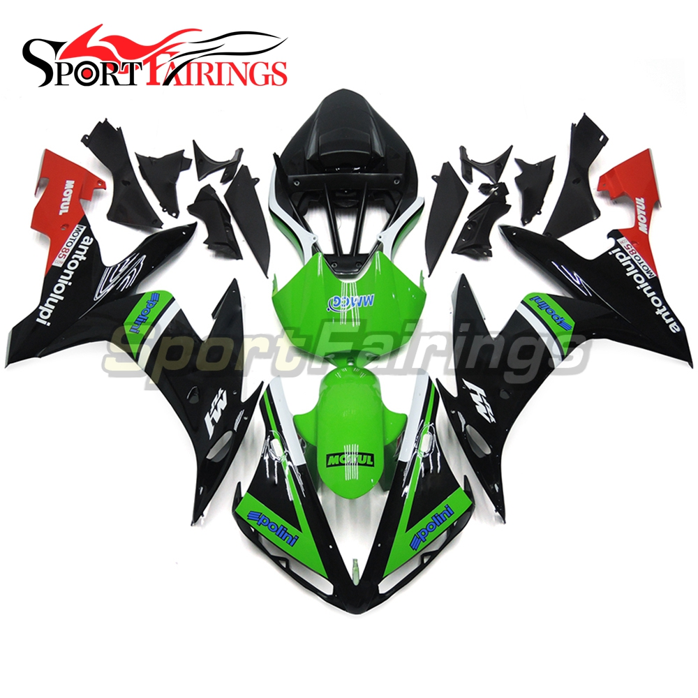 Green Black Full <strong>Fairings</strong> For Yamaha YZF <strong>R1</strong> <strong>04</strong> 05 06 ABS Plastic Injection Motorcycle <strong>Fairing</strong> Kit Body Kits