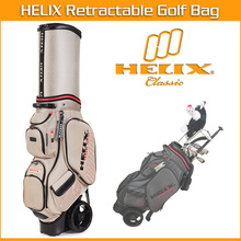 2016 Helix New design Golf Clubs Bag Folding Travel Golf Bag with wheels