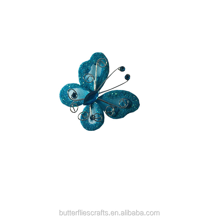 Blue Silk butterfly for floral arrangement and wedding decorations