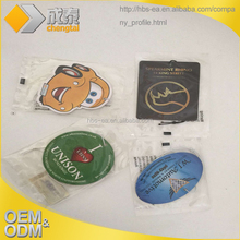 Custom the new car gifts paper car air freshener have many smell
