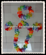 polyester hawaii flower lei/garland set