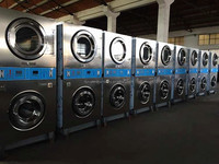 professional laundry used double stacked washer and dryer
