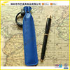 Wholesale Blue Leather Pen Case Single Pen Holder Vintage Pencil Case