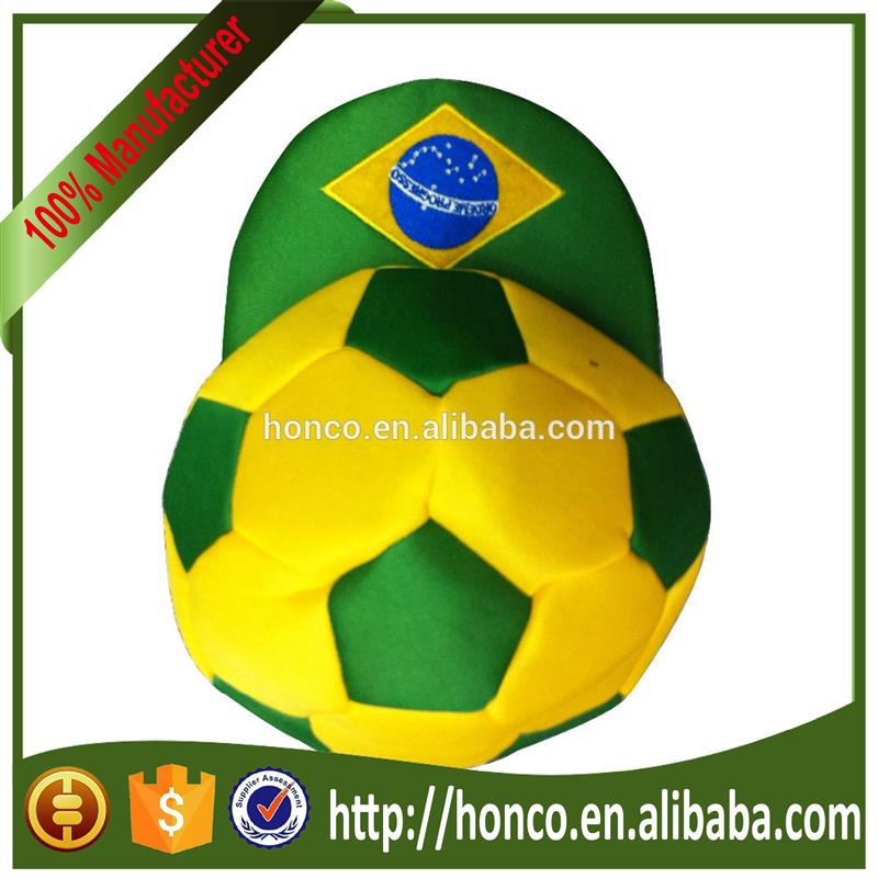 football fans Europe cup fashion hat/Dense velvet football fans cap/hat for 2014 Brasil World Cup Brazil