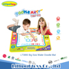 OEM magical educational coloring water drawing mat with 2 water pens