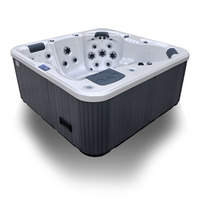 4 Adults Outdoor Rectangular Corner Cheap Bathtub (A410)