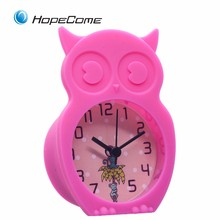 Custom Cartoon Design Silicone Cat Shape Alarm Clock