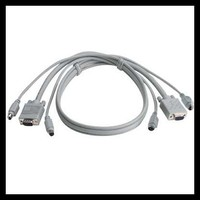 HD15pin 3+6 VGA, VGA Male Monitor Cable with 2 Ferrites Best Suit For VGA Cable Distributor China Factory Direct Sell