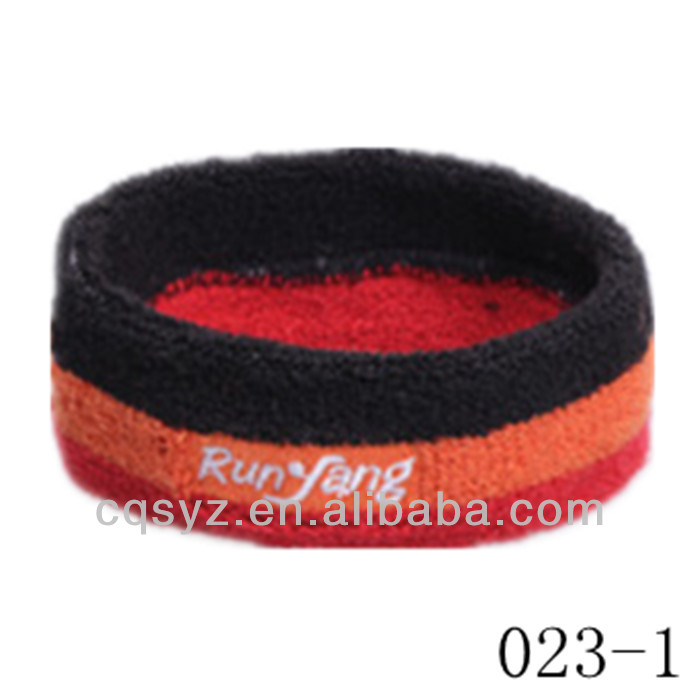 Colorful sports cotton wholesale custom headband