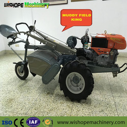 GN12 Mini Diesel Hand Held Walking Small Cultivator Farm Tractor