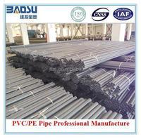 UPVC Culvert pipe plastic Large Plastic Drain Pipe 6 Diameter Plastic Pipe