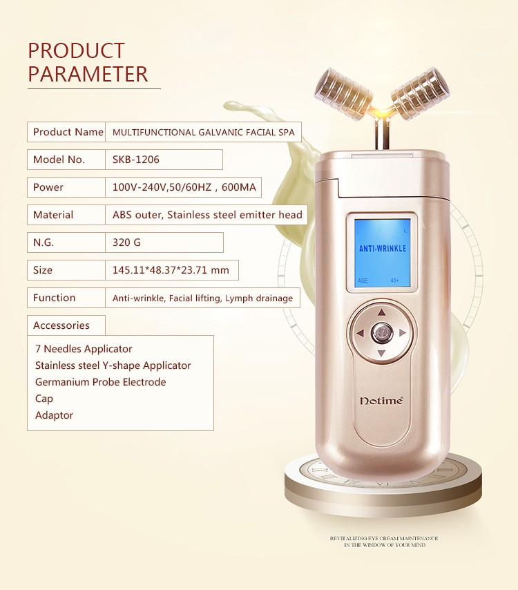 SKB-1206 Galvanic facial spa Microcurrent anti wrinkle from shenzhen