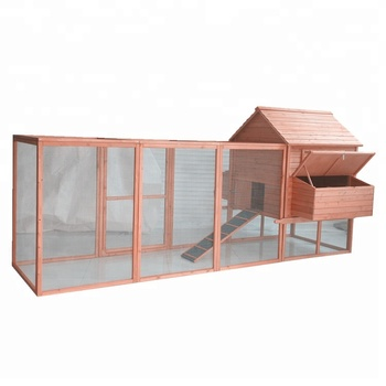 Large Wooden Poultry Hen House Chicken Coop With Large Extra Run