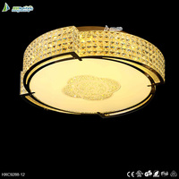 Modern crystal chandeliers lamps round led ceiling light for wedding decorations HXC9288-12