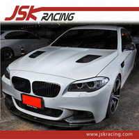 P STYLE CARBON FIBER FRONT LIP FOR 2012-2016 BMW 5 SERIES F10 (ONLY FOR M-TECH BUMPER)
