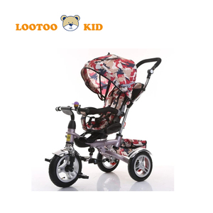 Foldable tricycle for toddlers with push bar / small tricycle for 2 year old / wholesale kids cycle price 3 wheel