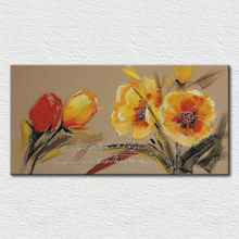 Palette knife oil painting pictures of beautiful flowers