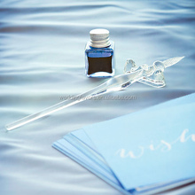 Glass Dip Pen Writing Set - Clear or Black