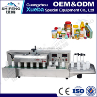 Desktop automatic electromagnetic induction aluminum foil sealing machine for small bottles