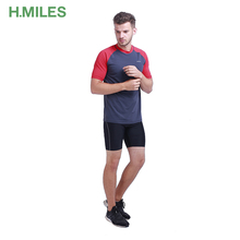 Athletic wholesale short sleeve gym latest sports raglan t-shirt for men