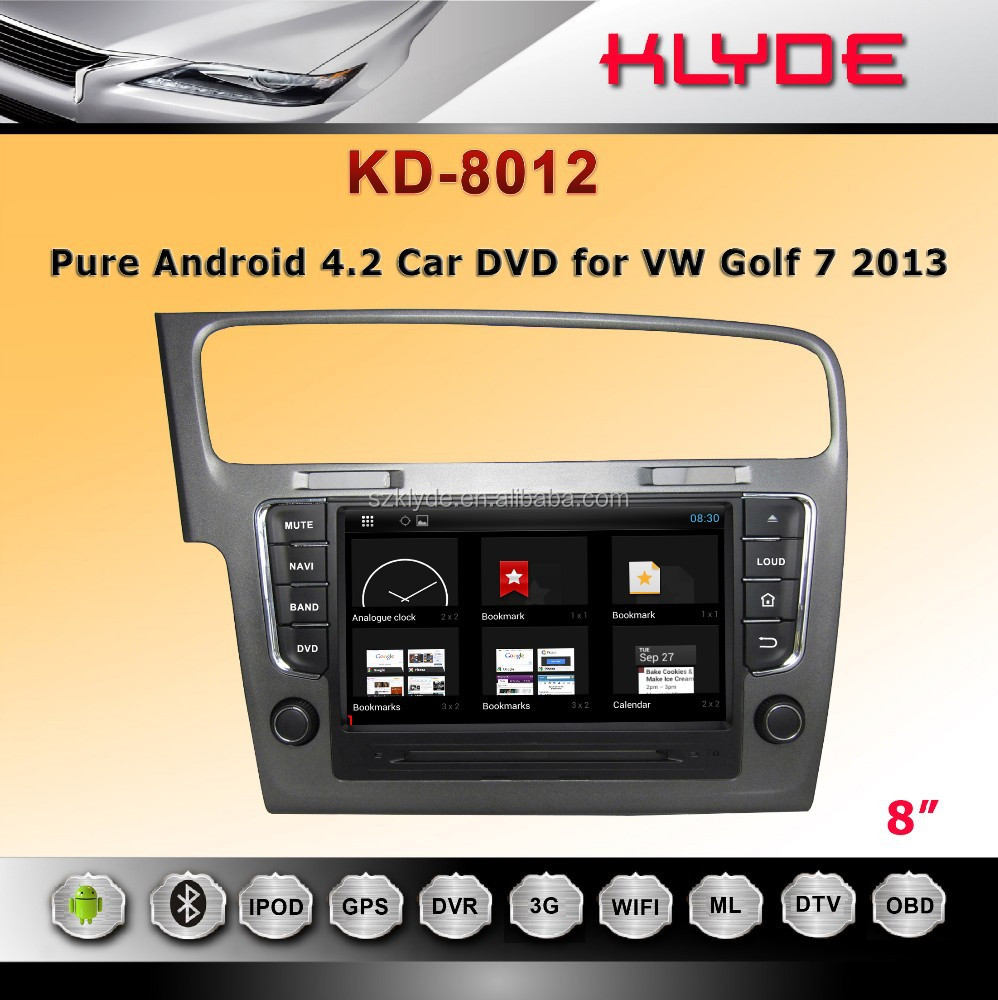 Android system Car dvd with GPS,Bluetooth,Games,Dual Zone,Steering Wheel Control for golf 7